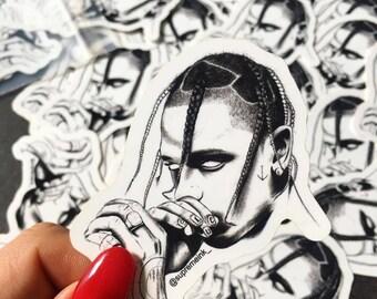 SUPREME INK stickers autocollants en vinyle brillant, Travis Scott, The Game, Rihanna, Method Man, Kendrick Lamar, Skepta