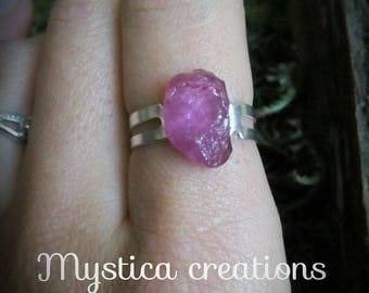 raw Ruby Adjustable ring