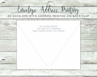 Guest Address and Return Address Envelope Printing