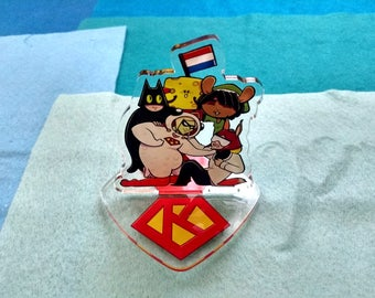 SuperKip - Funny Characters - Acrylic Standee - Desk Accessory - Decoration