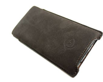 Samsung Galaxy S8 Plus Leather Handmade sleeve pouch case 100% made in italy