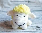FREE SHIPPING!!! Cute Fluffy Sheep - amigurumi crochet toy