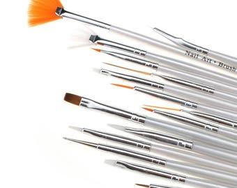 Brosse Pinceaux Stylo à Ongle Décor Liner Peinture Dotting Dessin Nail Art Kit