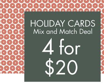 holiYAY BUNDLE: 4 CARDS for 20 Dollars