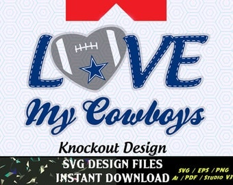 Love My Cowboys SVG Vinyl Cutting Decal, for Mugs, T Shirts, Cars  SVG files for Silhouette Cameo Cut Files, Svg  Cutting Files. SVG  Decal