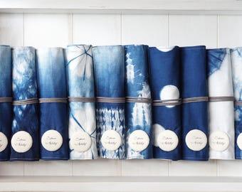 S.A x Indigo Dye Pencil Roll/Pencil Case, Ocean/ Sparkle/ Spruce Forest/ Spring/ Straw/ Iceberg/ Macaron/ Liberté/ Cell/ Ink Panting