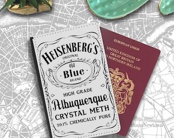 Heisenberg Albuquerque Breaking Bad Meth  Passport Holder Travel Flip Cover Case PT076