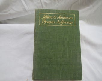 1905 ** Letters and Addresses of Thomas Jefferson** Parker and Viles  ** sj