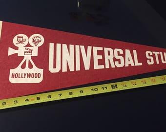 Vintage Universal Studios Hollywood Felt Pennant