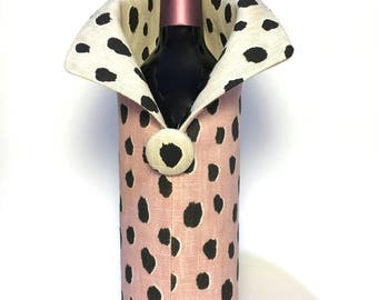 Collared Wine Bag (Kate Spade Fabric)