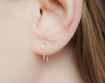 SALE - Hoop Earrings-Open Hoop Earrings-Small Hoop Earrings-Square Earrings-Tiny Hoop Earrings-Gold Hoop Earrings-Open Hoops-Tiny Hoops