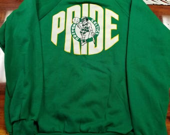 2XL Vintage boston celtics sweater crewneck, 80s fashion vintage nba, Larry bird, NEW DEADSTOCK