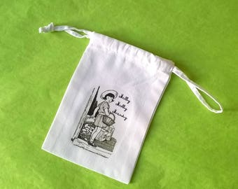 Fabric pouch, reading to children's number 1
