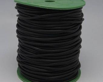 2M Black Synthetic Hollow Rubber Tubing Wire Cover Jewelry Cord 4mm  (S6)
