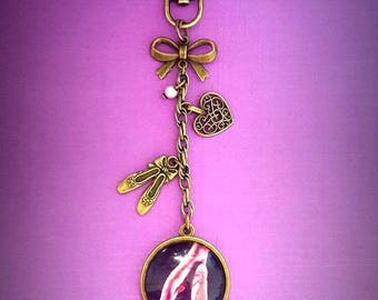 Bag ballet dancer charm bronze