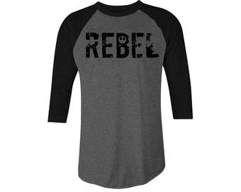 Star Wars Rebel Blacked out 3/4 Sleeve T-Shirt, Rebel Tee , Star Wars Tee, Star Wars Rebel T-shirts , Star Wars Rebel Tees StarWars