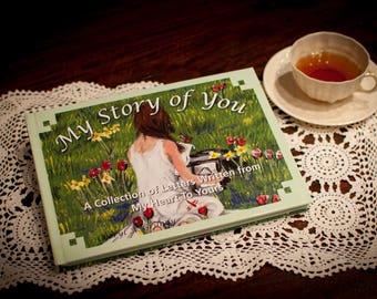 Keepsake Book, Journal, Baby Shower  Gift, Grandmother, Baby Memory, Letter, Writing