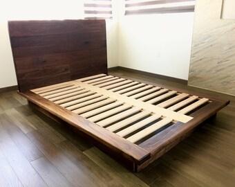 Nella Walnut Platform Bed