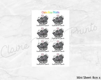 CUDDLE TIME Planner Stickers - Mini sheet