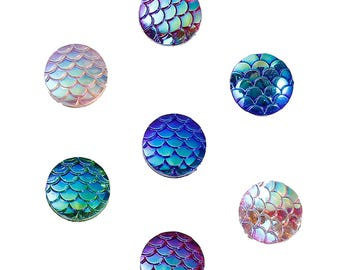Mermaid Scales, Mermaid Cabochon, Mermaid Jewellery, Mermaid Jewelry , Fish Scales, Mermaid Flatbacks, Mermaid Supplies, Mermaid Flatbacks,