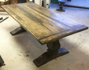 Professional Pedestal // Trestle Dining Table