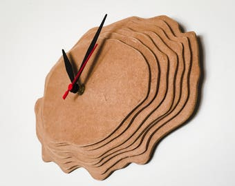 "Contour line wall Clock-wall clock ""level curves"""