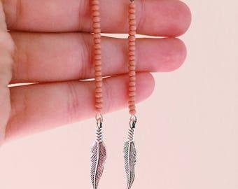 Chandelier feather earrings