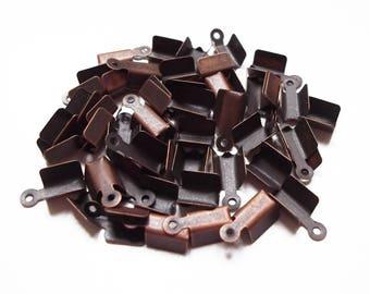 10 end caps cord copper 12 x 3 mm