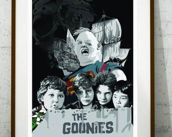 Alternative The Goonies print, The Goonies poster, cinema wall art, Goonies print, instant download art