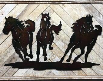 Rustic Horse Decor, Horse Decor, Horse Wall Art, Horse Wall Decor, Cabin Decor, Cabin Wall Decor, Wildlife Decor, Wildlife Art, Adventure