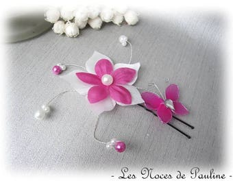 Peak wedding fuchsia and white Fleur Soie and Butterfly Esther