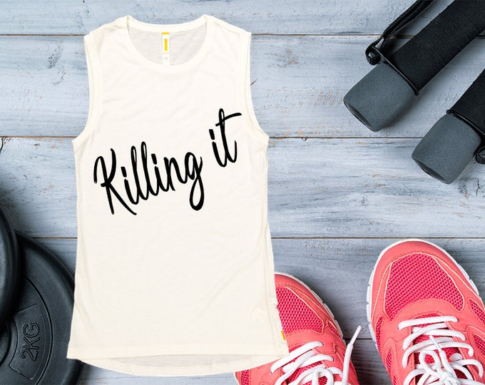 Women's Tank Top -Killing It Workout Clothing