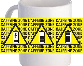 Caffeine Zone 11 oz Coffee Mug Personalized With Beautiful theme