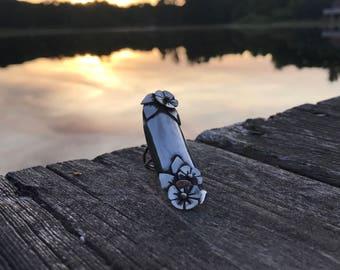 Sterling silver armor blossom ring Sz. 6.5