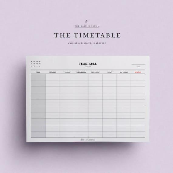 week time planner