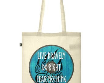 Organic Cotton Classic Shopper Tote Bag - Viking Totes, Inspirational Quote Tote - Ethically Produced Eco Tote Bag, Humorous Quote Tote