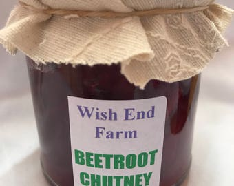 Beetroot Chutney Homemade 200g (7oz) Jar, Food Gifts, Gifts for Him, Birthday Gift, Teacher Gift, Hostess Gift, No Artificial Preservatives