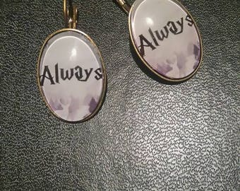 """harry potter"" style earrings"