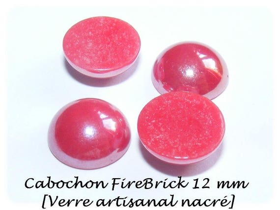 1 Cabochon 12 mm [Firebrick]