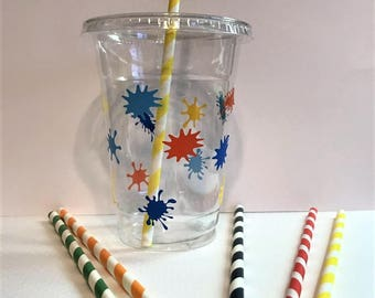 Paint Splatter Party Cups
