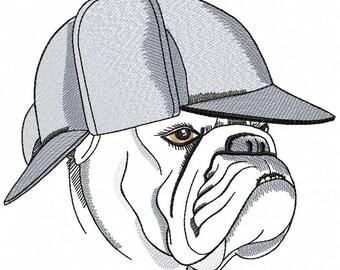 Machine Embroidery Design -  Bulldog Embroidery dog  5*7, 6*8, 6*7, 8*10