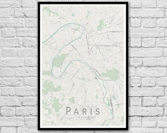 PARIS France City Street Map Print | Wall Art Poster | Wall decor | A3 A2