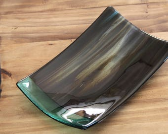 Rectangle Fused Glass Serving Plate