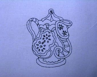 Decorative Teapot 005 4x4