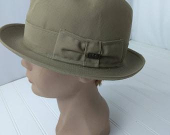 London Fog Vintage Hat Size 7 1/4 Andes Brown Tan