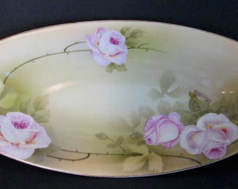 SPRING SALEAntique Relish Schonwald P.S.A.G. Bavaria Roses Crown 1900s