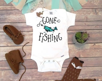 Gone Fishing Onesie®, Little Fishing Buddy, Baby Boy Clothes, Baby Shower Gift, Daddy Onesie, Country Baby Clothes, Toddler Fishing Shirt