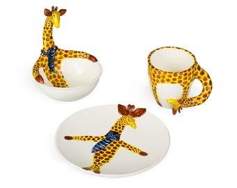 Dinnerware set Giraffe