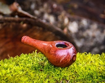 Stubby Bubinga, Old School Wood Pipe, wood pipe, stash pipe, unique pipe, cool pipe, smoking pipe wood