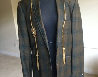 Women's Vintage Embellished Blazer Jacket